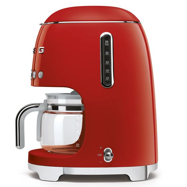 Smeg Drip Filter Coffee Machine Pastel Red (DCF02RDUK)
