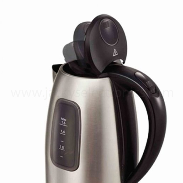 Panasonic 1.6L Kettle , 2200W, Stainless Steel Finish, One Push Open Lid, Removable Lime Scale Filter, Easy to See Dual Water Window (NCSK1B)