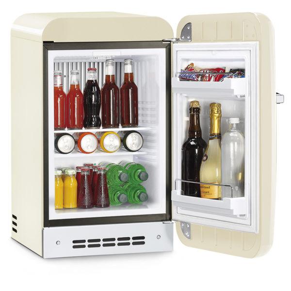Smeg Single Door Refrigerator Retro Style Cream 38 Litres (FAB5RCR3GA)