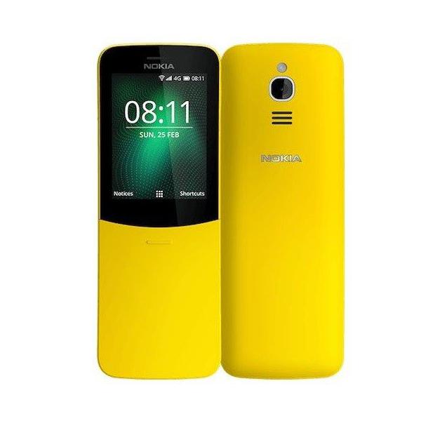 Nokia 8110 Dual SIM 4GB 512MB 4G LTE - Yellow (NOKIA8110W-Y)