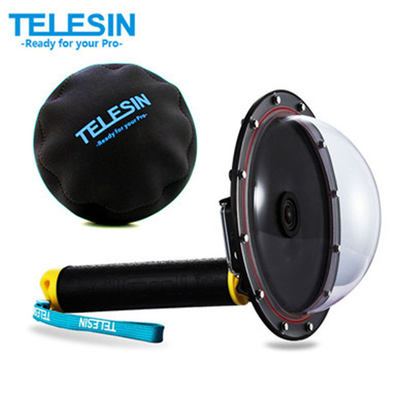 "TELESIN 6"" Dome Port Waterproof Case Floating Trigger Dome for GoPro (GP-DMP-T03YL-EC)"