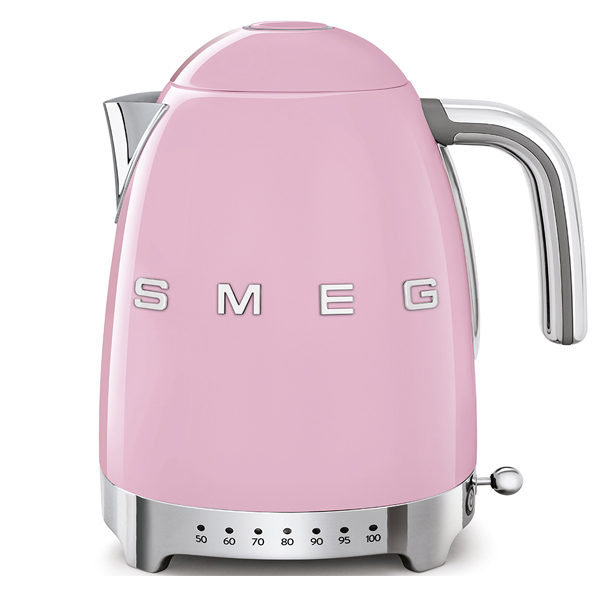 Smeg Kettle 1.7 Litres, Variable Temperature Pink (KLF04PKUK)