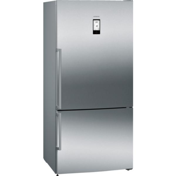 Siemens iQ500 noFrost, Bottom freezer Door color Inox-easyclean (KG86NAI30M)