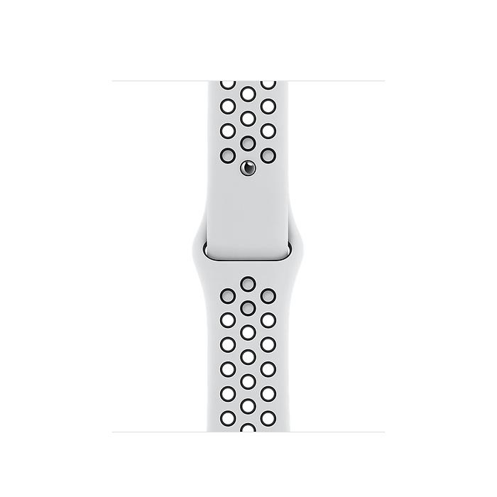 Apple Watch Nike SE GPS, 40mm Silver Aluminium Case with Pure Platinum/Black Nike Sport Band - Regular MYYD2AE/A