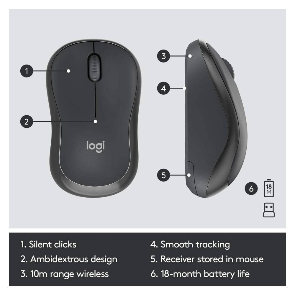 Logitech MK295 Wireless Mouse & Keyboard Combo Graphite MK295