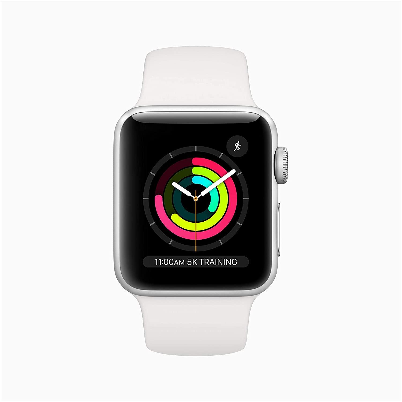 Apple Watch Series 3-38 mm, Silver Aluminum Case - MTEY2AE/A