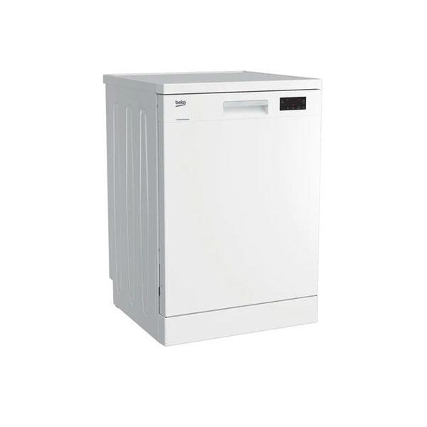 Beko Free Standing Dishwasher, 14 Place settings, 6 programs, ProSmart™ Inverter Motor, Half Load Option, A++ Energy Efficient, White Color, Made in Turkey (DFN16421W)