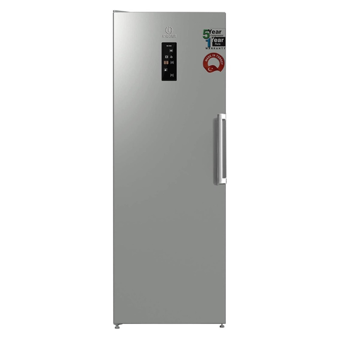 Indesit 260 Liters, 7 Drawer Upright Freezer, Made in Turkey, Inox UI8-F1DX