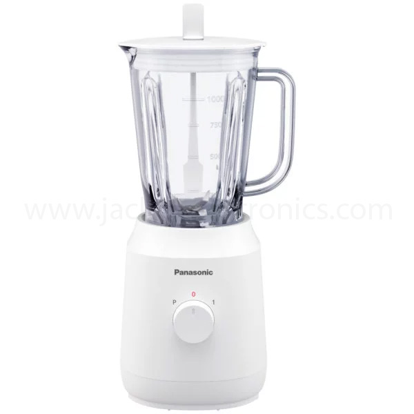 Panasonic Blender 400 W Mixer Blender, 1000ml  Plastic Container, 1Speed Button + 1 pulse, With 2 Mill Attachment, Circuit Breaker (MX-EX1021WTZ)