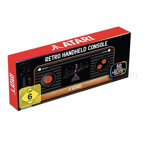 ATARI RETRO HANDHELD CONSOLE W/ 50 BUILT-IN GAMES (FG-BAJY-HHC-EFIGS)