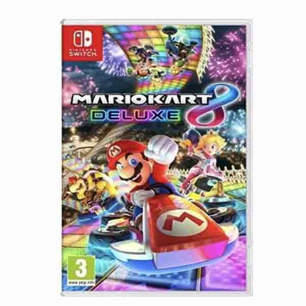 Nintendo Switch Grey Joy-Con Console + Switch Mario Kart 8 Deluxe Game (HWSW-427085)