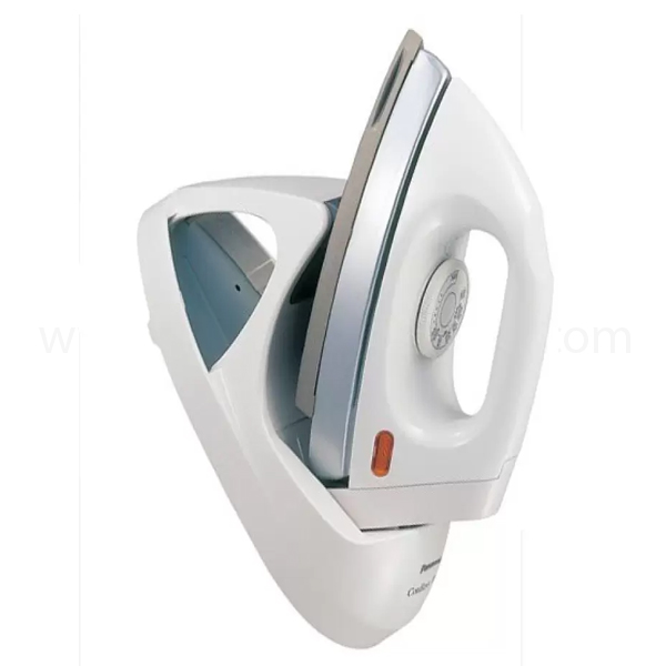 Panasonic Cordless Dry Iron, 1000W, Non-Stick coated Soleplate, Mid weight, Thermostatic Pilot lamp, Button Slit, Made in Malaysia (NI-100DXWT)