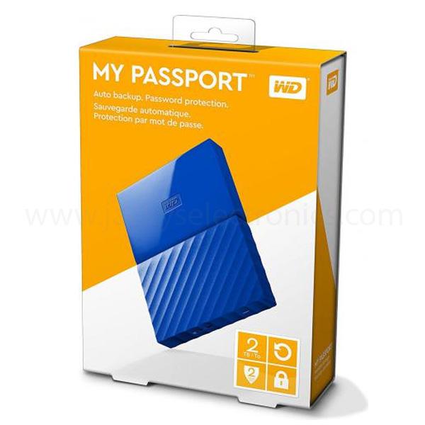 Western Digital My Passport 2TB Portable Hard Drive, Blue (WDBS4B0020BBL-WESN)