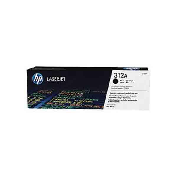HP 312A Black Original LaserJet Toner Cartridge CF380A