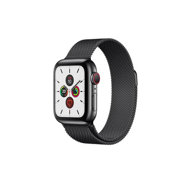APPLE WATCH SERIES 5 GPS + CELLULAR, 40MM SPACE BLACK STAINLESS STEEL CASE WITH SPACE BLACK MILANESE LOOP (MWX92AE/A)