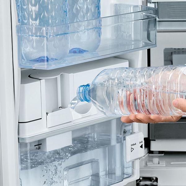 Hitachi 800ltr French Bottom Freezer Refrigerator, Glass Gray RWB800PUK5XGR