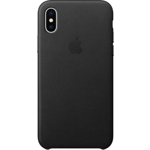 Apple iPhone X Leather Case, Black (MQTD2)