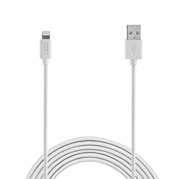 AIINO CABLE / 2.4A MICRO USB 1.2M WHITE (AICLTNGMFI)