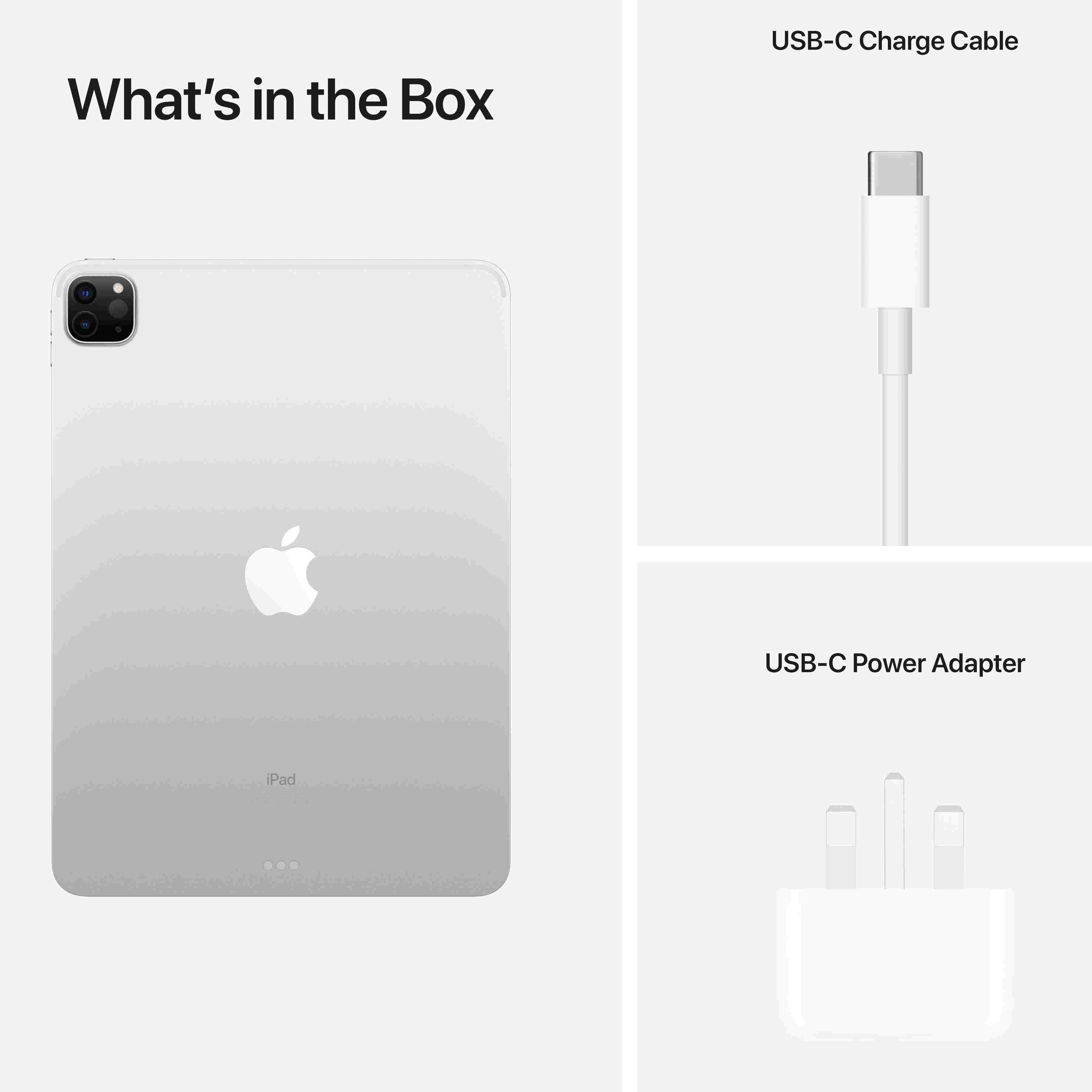 Apple iPad Pro M1 Chip 3rd Gen 11-inch Wi‑Fi 128GB- Space Gray MHQR3AB/A