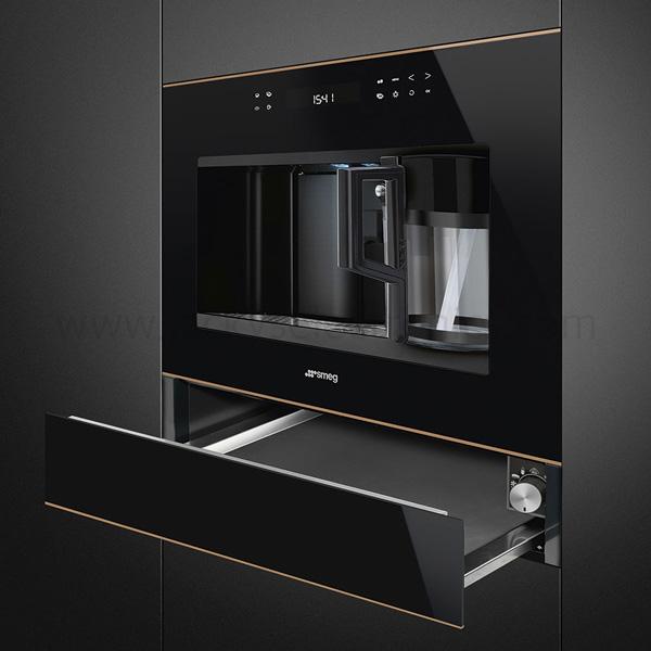 Smeg Automatic Coffee Machine, Black Glass, Dolci Stil Novo (CMS4601NR)