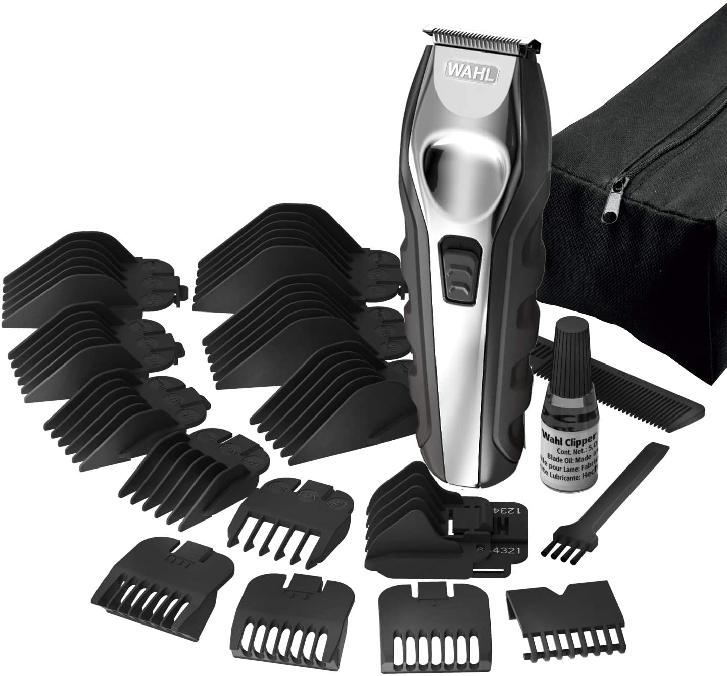 Wahl 9888-1227 All in One Lithium Ion Sport Ergo Grooming Kit, Steel Black