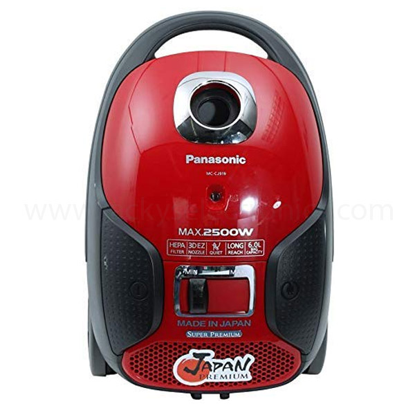 Panasonic Canister Vacuum Cleaner 2500W, Red (MCCJ919R)
