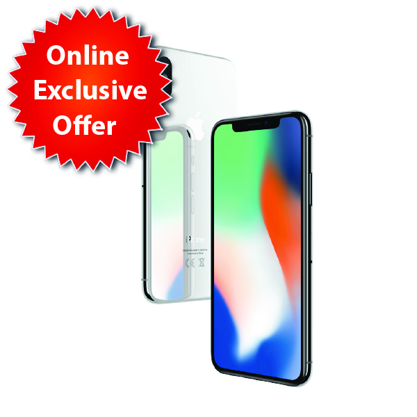 Apple iPhone X 256GB Silver - (IPX-256SL-EC)