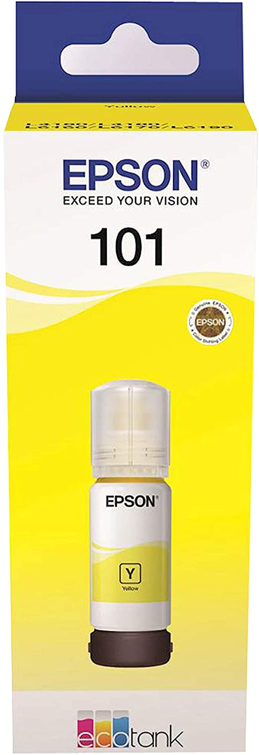 Epson 101 Eco Tank Ink Bottle, C13T03V44A - Yellow (Pack of 1)