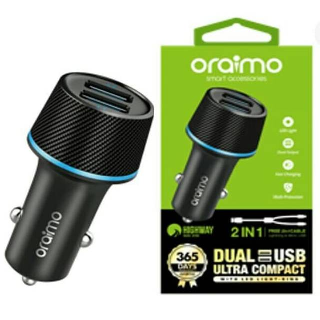 Oraimo OCC-21D+OCD-D61 Highway Car Charger black