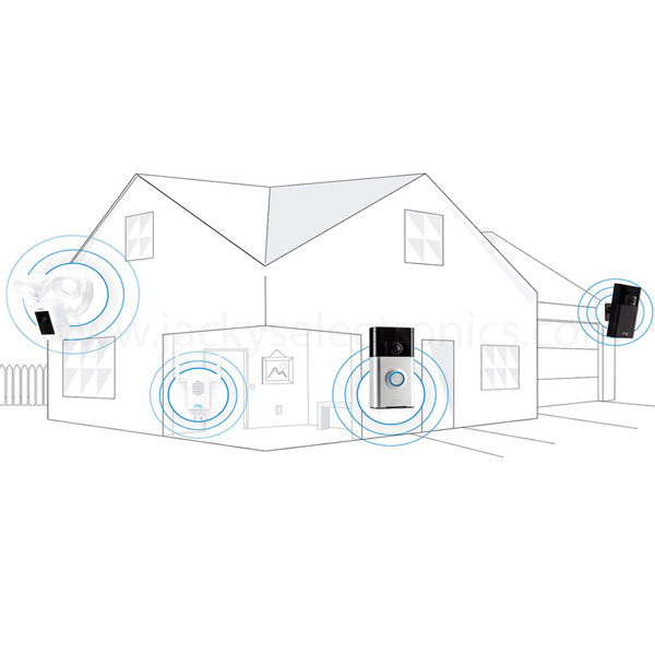 RING VIDEO DOOR BELL-SATIN NICKEL (8VR1S5-SEN0)