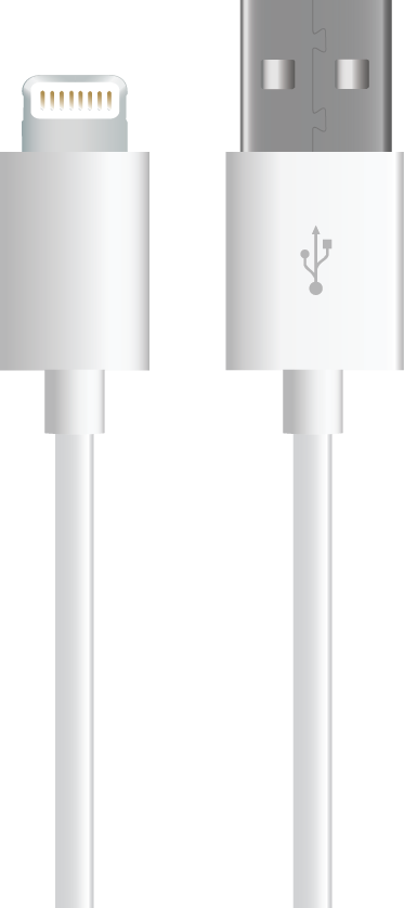 MYCANDY LIGHTNING CABLE MFI 1M  WHITE (ACMYCMFI8P1MWHT)