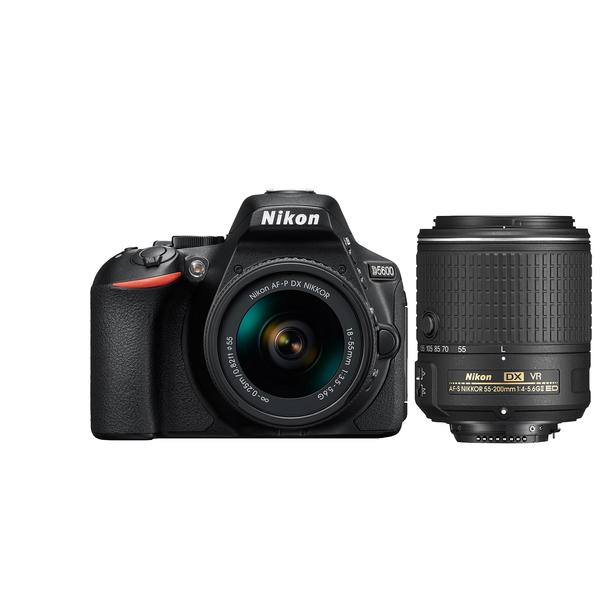 Nikon D5600 + AF-P 18-55MM VR KIT + AF-P 70-300MM (AUTO FOCUS) 16GB SD CARD + CASE (D5600KIT1)