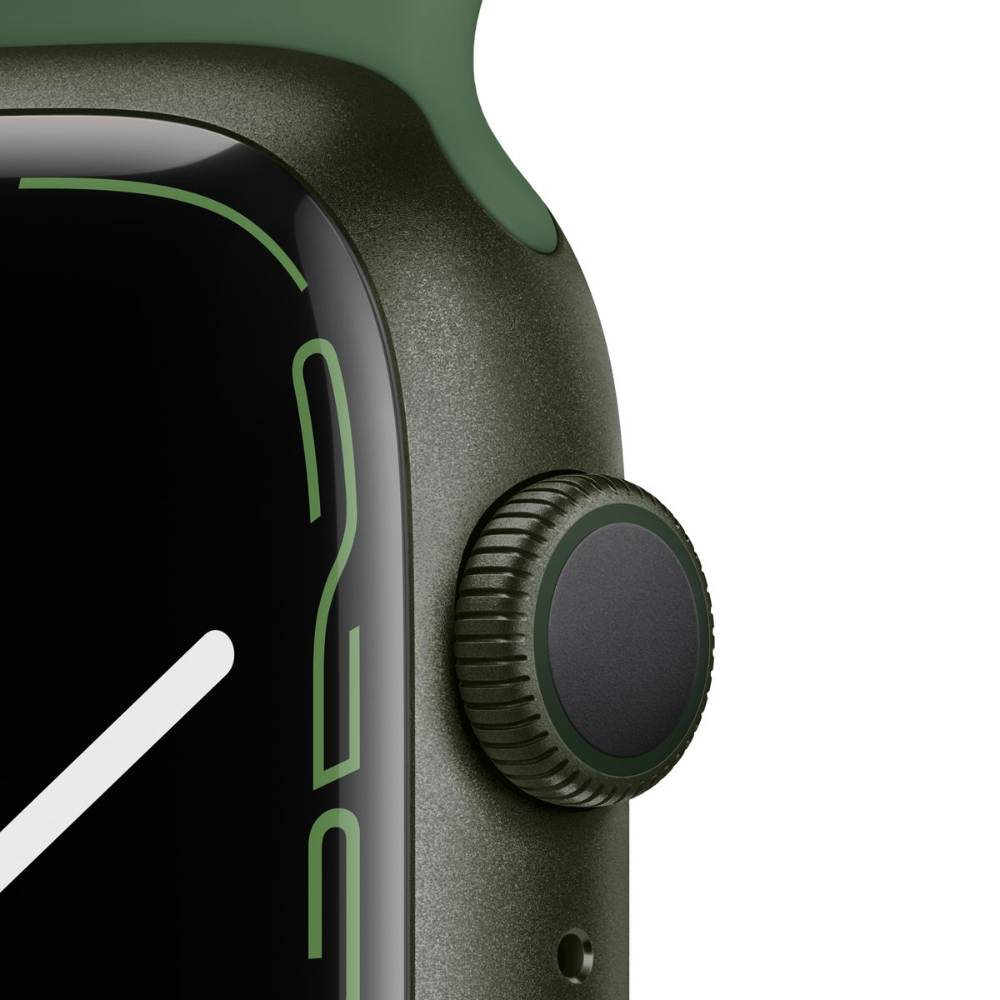 Apple Watch Series 7 GPS, 41mm Green Aluminium Case with Clover Sport Band - Regular - MKN03AE/A + EXTRA BAND