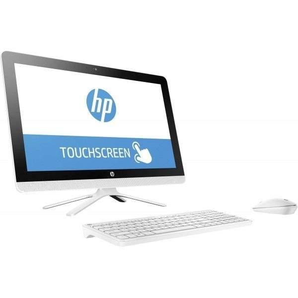 HP All-in-One Desktop,21.5-Inch FHD Touch, Intel Core i3-7100U, 4GB RAM, 1TB HDD, Win 10, White (22-B335)