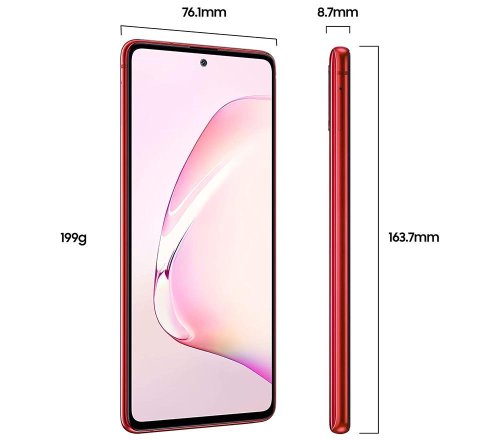 "Samsung Galaxy Note 10 Lite 6.7"" 128GB, 8GB RAM Red SMN770F-128GBRDE"