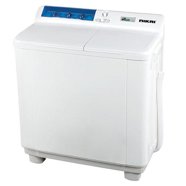 Nikai 10Kg Semi-Automatic Top Load Washing Machine, White - NWM1001SPN3