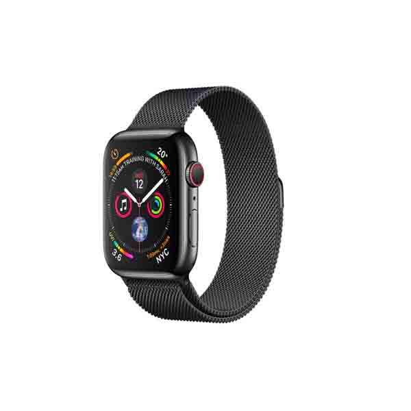 Apple Watch Series 4 GPS + Cellular, 40mm Space Black Stainless Steel Case with Space Black Milanese Loop (MTVM2AE/A)