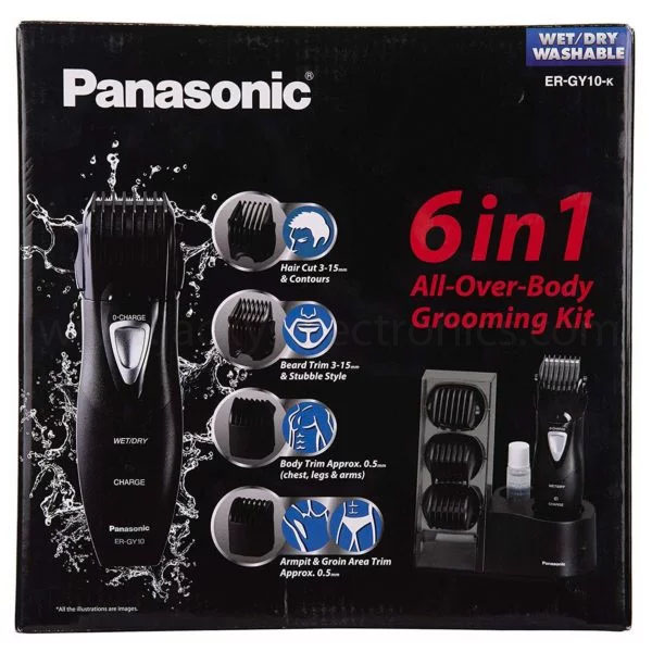 Panasonic Mens Body 6 in 1 Grooming Kit (ERGY10)