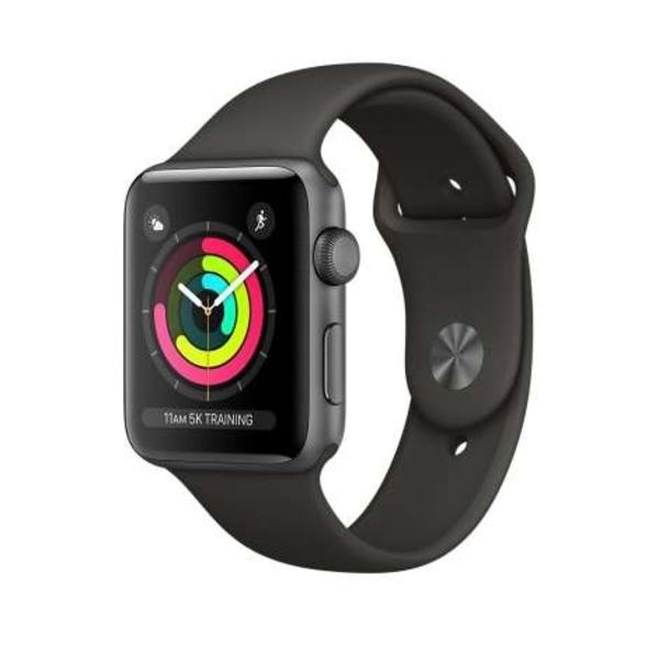 Apple Watch Series 3 GPS, 42mm Space Grey Aluminium (MQL12AE/A)