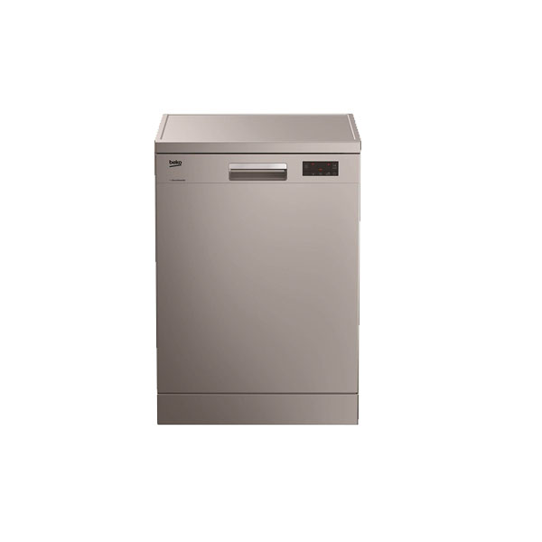 Beko Free Standing Dishwasher, 14 Place settings, 6 programs, ProSmart™ Inverter Motor, Half Load Option, A++ Energy Efficient, Silver Color, Made in Turkey (DFN16421S)