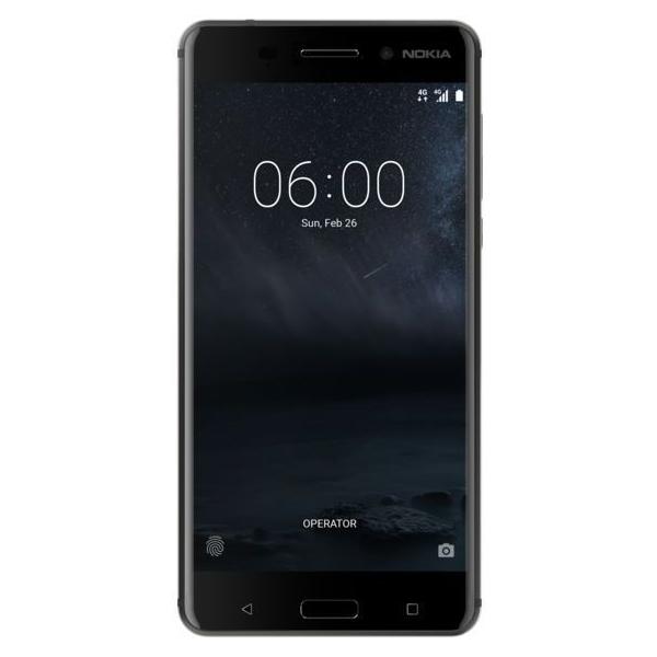 Nokia 6 Dual Sim - 64GB, 4GB RAM, 4G LTE, Matte Black (NOKIA6W-MB)