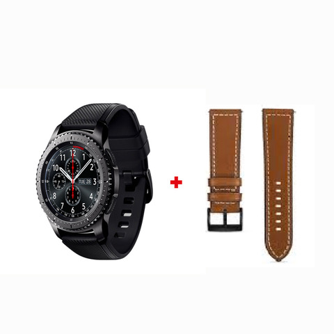 Samsung Gear S3 Classic + Brown Leather Band (GEARS3-CSLB)