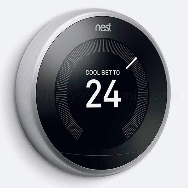 NEST LEARNING THERMOSTAT 3RD GENERATION -STEEL T3019US (NEST-T3019US)