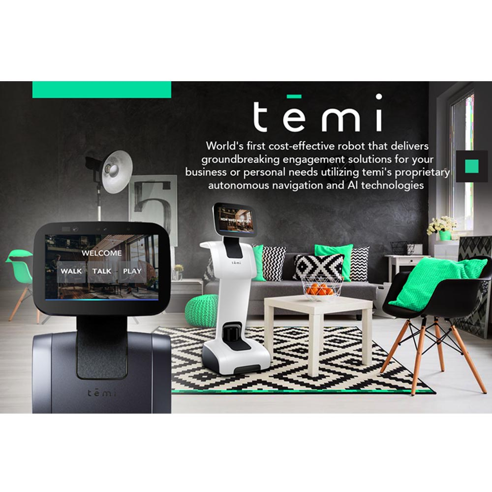 Temi - The Personal Robot with self-charging dock in Black