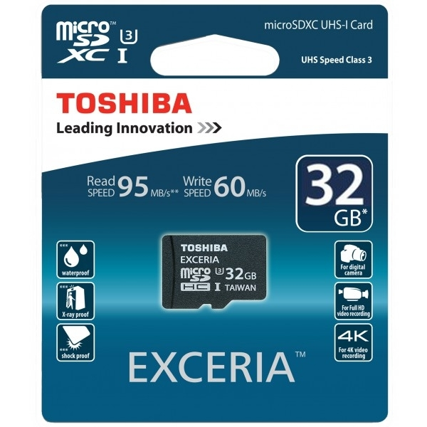 TOSHIBA MICRO SD CARD / 32GB, EXCERIA - SD-CX32UHS1