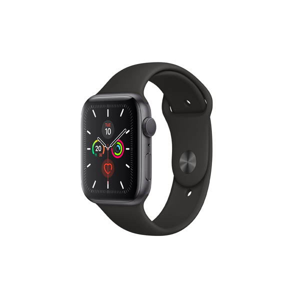 APPLE WATCH SERIES 5 GPS + CELLULAR, 44MM SPACE GREY ALUMINIUM CASE WITH BLACK SPORT BAND - S/M & M/L (MWWE2AE/A)