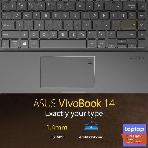 "Asus VivoBook 14"" i7 16GB RAM 1TB SSD 2GB Graphics Windows 10 FHD Black Eng-Arabic Keyboard K413EQ-AM226T"