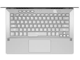 "Asus ROG Zephyrus G14 GA401IV-HA108T Gaming Laptop (Moonlight White)-AMD Ryzen9 4900HS 3.0GHz, 16GB RAM, 1TB SSD, Nvidia RTX2060 6GB, 14""WQHD, Win10"