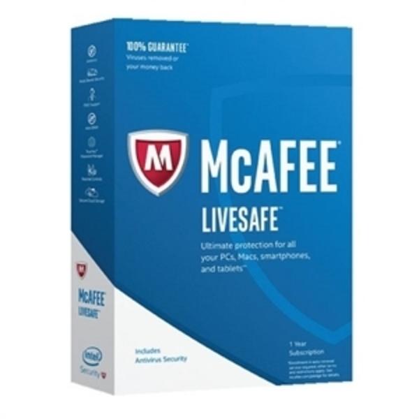 MCAFEE LIVESAFE 2017 UNLIMITED DEVICE (MLS17AMB1RAA)