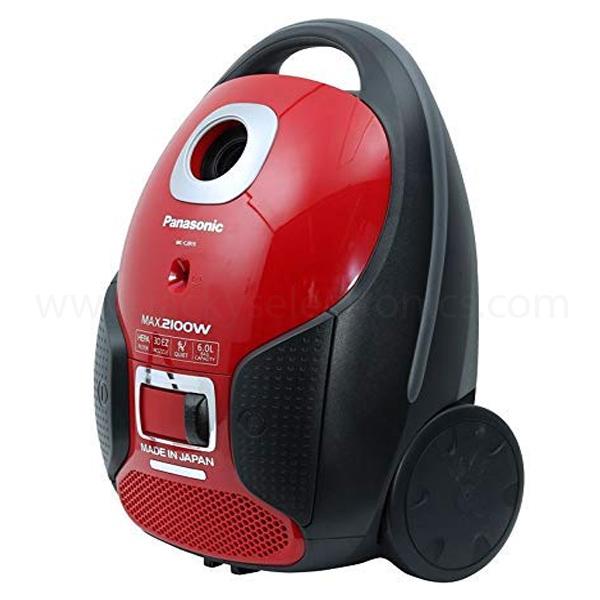 Panasonic Canister Vacuum Cleaner, Red & Black (MCCJ915R)